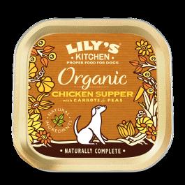 Lily's Kitchen Organic Bio au Poulet Chien 11 x 150 g - Dogteur