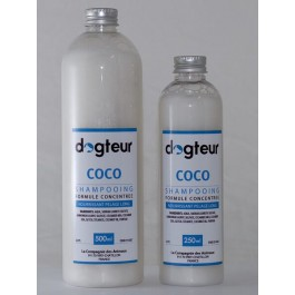 Offre Dogteur: 1 Shampooing PRO Dogteur Huile de Coco 10 L acheté = 1 gant de toilettage offert - Dogteur