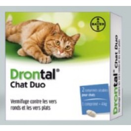 Drontal Chat Duo 2 Cps - Dogteur