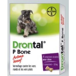 Drontal Chien arome viande 4 Cps - Dogteur