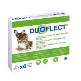 Duoflect Chien 2-10 kg et chat > 5kg 6 pipettes - 12 mois - Dogteur