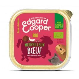 Edgard & Cooper Barquette Bœuf Bio pour chien 17 x 100 g - Dogteur