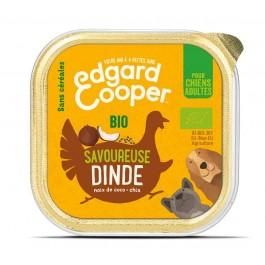 Edgard & Cooper Barquette Dinde Bio pour chien 17 x 100 g - Dogteur