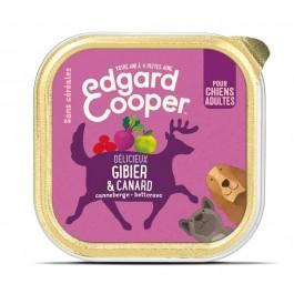 Edgard & Cooper Barquette Gibier & Canard pour chien 11 x 150 g - Dogteur