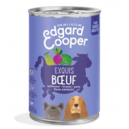 Edgard & Cooper Boite Boeuf Canneberge Brocoli Chien adulte 6 x 400 g - Dogteur