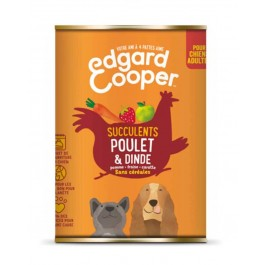 Edgard & Cooper Boite Poulet et Dinde Chien adulte 6 x 400 g - Dogteur