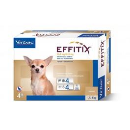 Effitix Spot On très petit chien 1.5 - 4 kg 24 pipettes - Dogteur