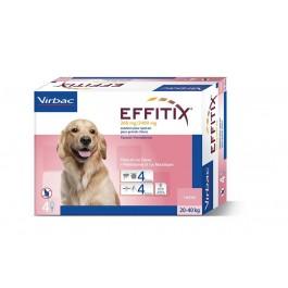 Effitix Spot On grand chien 20 - 40 kg 4 pipettes - Dogteur