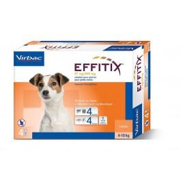 Effitix Spot On petit chien 4 - 10 kg 4 pipettes - Dogteur