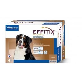 Effitix Spot On très grand chien 40 - 60 kg 4 pipettes - Dogteur