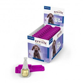 Effitix Spot On moyen chien 10 - 20 kg 4 pipettes - Dogteur