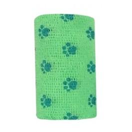 Bandes Cohésives 10 cm Empreinte vert fluo - Dogteur