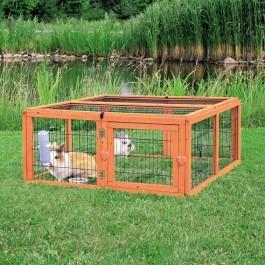 Natura enclos en bois avec toit 116 × 48 × 109 cm - Dogteur