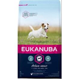Eukanuba Chien Active Adult Petite Race au poulet 3 kg - Dogteur