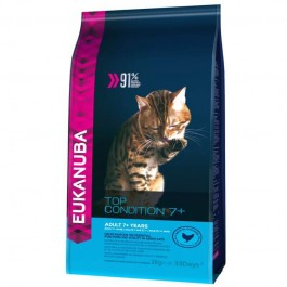Eukanuba Chat Adult 7+ Top Condition 2 kg - Dogteur