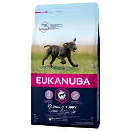 Eukanuba Growing Puppy Grande Race au poulet 3 kg - Dogteur