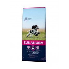 Eukanuba Growing Puppy Moyenne Race au poulet 3 kg - Dogteur