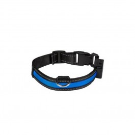 Eyenimal Collier Lumineux USB Rechargeable Blue Taille L - Dogteur
