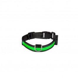 Eyenimal Collier Lumineux USB Rechargeable Vert Taille L - Dogteur