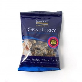 Fish4Dogs Sea Jerky Squares 100% Fish Friandise pour chien 100 g - Dogteur
