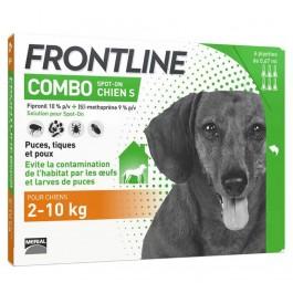 Frontline Combo Chien 2-10 kg 6 pipettes - Dogteur