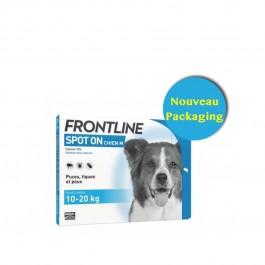 Frontline Spot on chien de 10-20 kg 6 pipettes - Dogteur