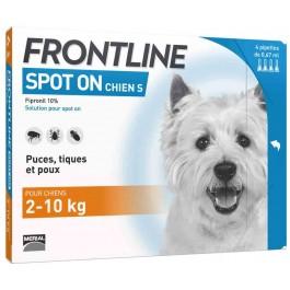 Frontline Spot on chien de 2-10 kg 1 pipette - Dogteur