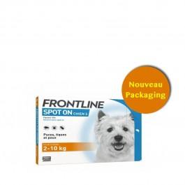 Frontline Spot on chien de 2-10 kg 4 pipettes - Dogteur