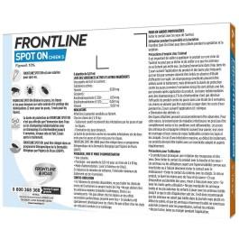 Frontline Spot on chien de 2-10 kg 6 pipettes - Dogteur