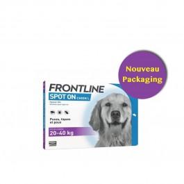 Frontline Spot on chien de 20-40 kg 4 pipettes - Dogteur