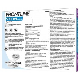 Frontline Spot on chien de 40-60 kg 4 pipettes - Dogteur