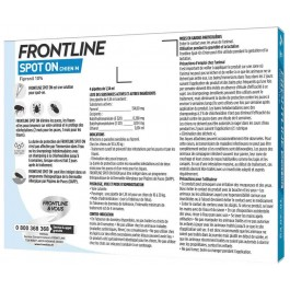 Frontline Spot on chien de 10-20 kg 6 pipettes - Dogteur