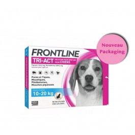 Frontline Tri Act spot on chiens 10 - 20 kg 3 pipettes - Dogteur