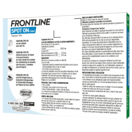 Frontline chat spot on 6 pipettes - Dogteur