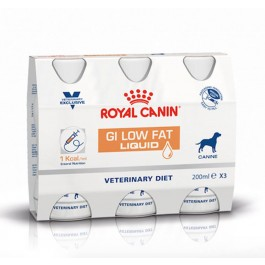Royal Canin Veterinary Diet Dog Gastro Intestinal Low Fat Liquid 3 x 200 ml - Dogteur
