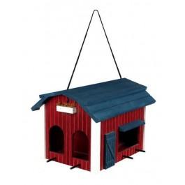 Trixie Mangeoire Grange 24 × 22 × 32 cm bois rouge - Dogteur