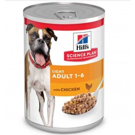 Hill's Science Plan Canine Adult Light Poulet 12 x 370 grs - Dogteur