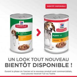 Hill's Science Plan Canine Puppy Poulet BOITES de 12 x 370 g - Dogteur
