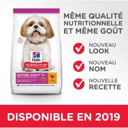 Hill's Science Plan Canine Mature 7+ Small & Mini Poulet 3 kg