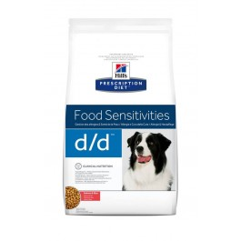 Hill's Prescription Diet Canine D/D Saumon et Riz 12 kg - Dogteur