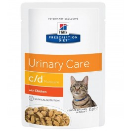Hill's Prescription Diet Feline C/D Multicare Poulet SACHETS 12 x 85 grs - Dogteur