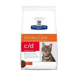 Hill's Prescription Diet Feline C/D Urinary Stress au poulet 1.5 kg - Dogteur
