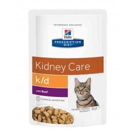 Hill's Prescription Diet Feline K/D Boeuf SACHETS 12 X 85 grs - Dogteur