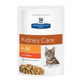 Hill's Prescription Diet Feline K/D Poulet SACHETS 12 x 85 grs - Dogteur