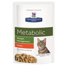 Hill's Prescription Diet Feline Metabolic Sachets 12 x 85 grs - Dogteur