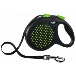 Laisse à enrouleur Flexi Design Sangle L Vert 5 m - Dogteur