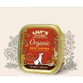 Lily's Kitchen Organic Bio au Boeuf Chien 11 x 150 g - Dogteur