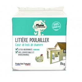 Plume & Compagnie Litière poulailler extra absorbante Bois de chanvre 8 kg - Dogteur