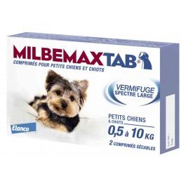Milbemax Tab vermifuge chiots et petits chiens de 0,5 à 10kg - Dogteur