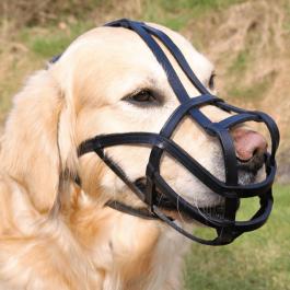 Trixie Muselière pour grands chiens L - 27 cm - cuir noir - Dogteur